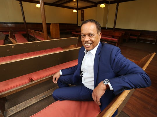 Oakwood Friends School alumni Juan Williams, a Fox News Channel journalist and political analyst, is pictured in the meeting room at the school in Poughkeepsie, May, 2, 2017.
