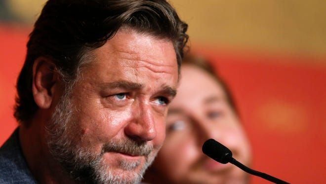 Russell Crowe attends the press conference for 'The Nice Guys' during the 69th Cannes Film Festival.
