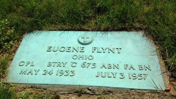 Eugene Flynt's final redsting place.