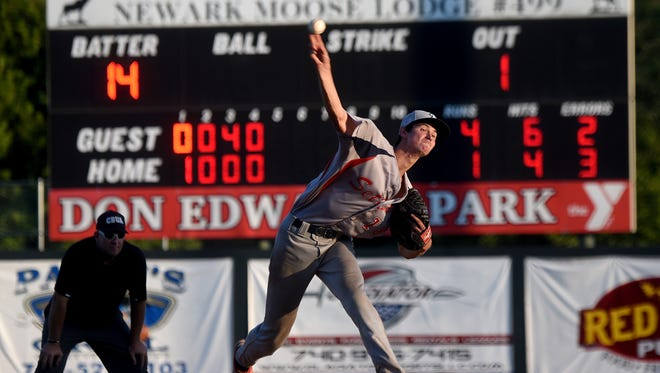 Denison University's John Troll pitches for the Licking County Settlers earlier this summer. Settlers owner Jim Fulk offered to operate Don Edwards Park for 10 years, but the City of Newark declined to act on the proposal, choosing to continue to partner with the Licking County Family YMCA.