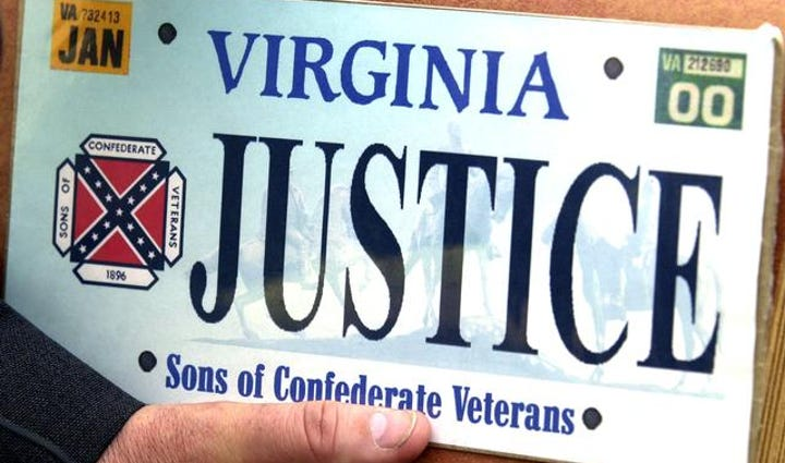 Sons of Confederate Veterans specialty license plate