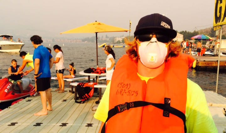 Some people in Chelan wore masks to protect themselves