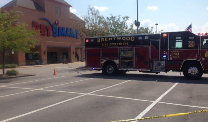 Scene of Brentwood Petsmart evacuation
