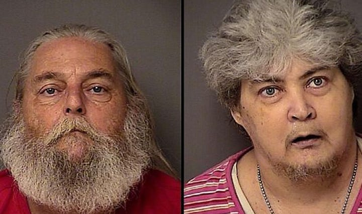 Raymond and Debbie Sutherland were arrested Tuesday