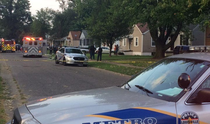 Shooting scene at 43rd and Parker Avenue