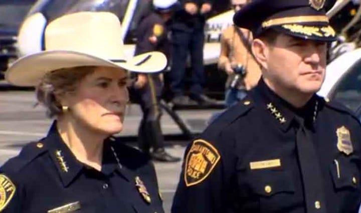 San Antonio law enforcement honors Deputy Darren Goforth.