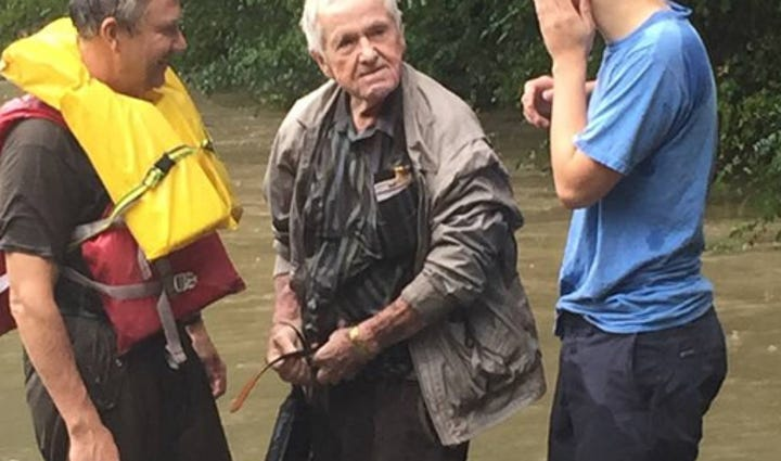 An elderly man was rescued from the South Carolina