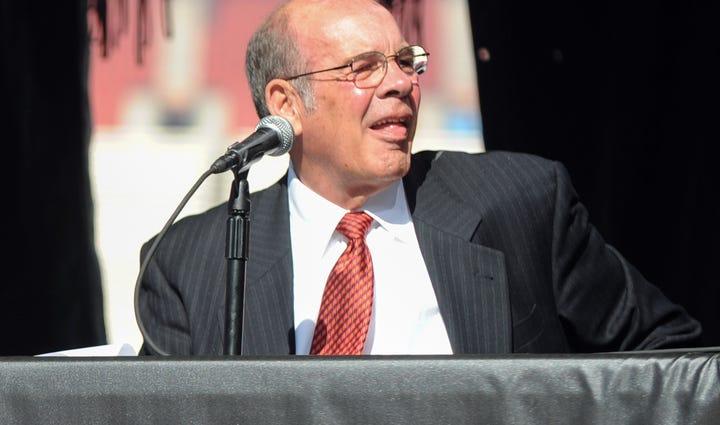 Virginia Tech Hokies athletic director Jim Weaver during