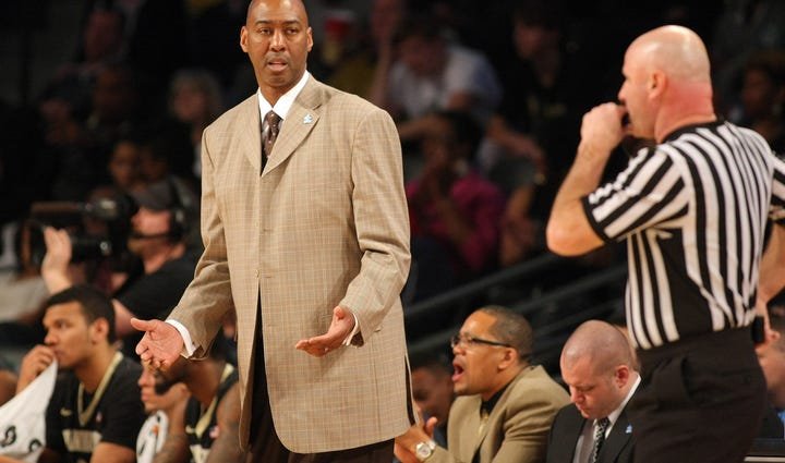 Wake Forest Demon Deacons head coach Danny Manning