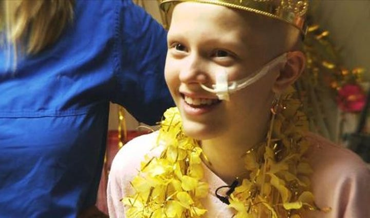 Mary Elizabeth, 12, was battling leukemia at Children's