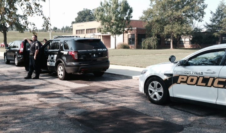 Cuyahoga Falls Police are currently out on the scene
