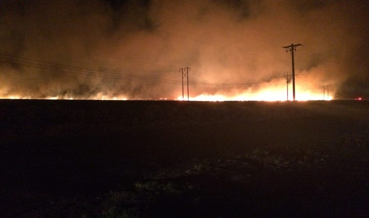 Fire near Quincy, WA