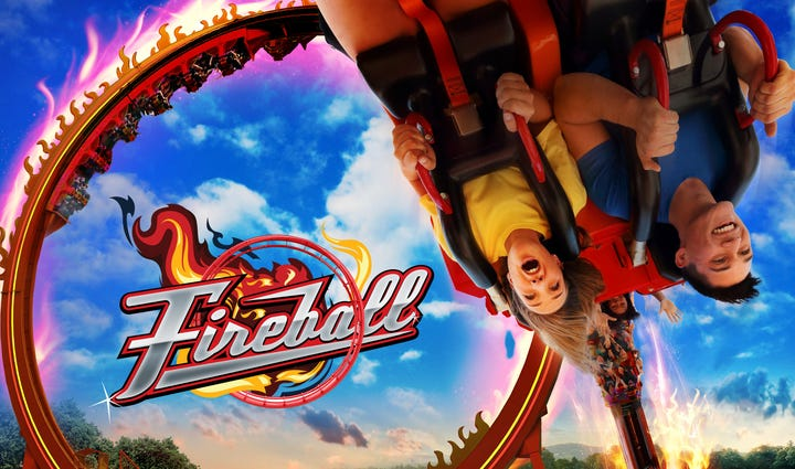 The new ride, Fireball, will open at Six Flags St.