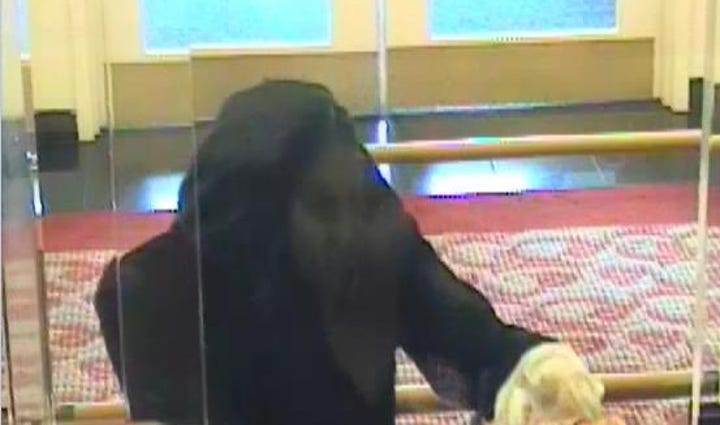 A man with scissors robbed a bank on N. Lee Highway