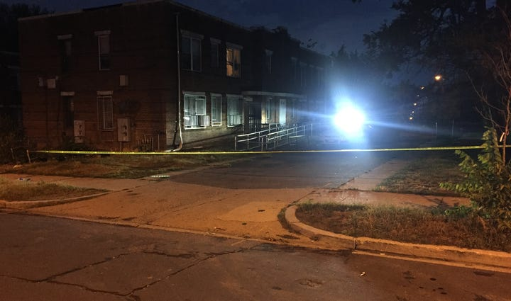 The scene of the death investigation in Southeast D.C.