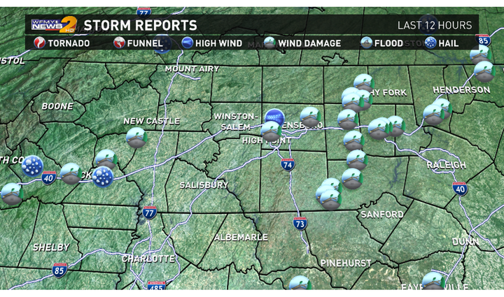 Severe Storm Reports From June 30, 2015