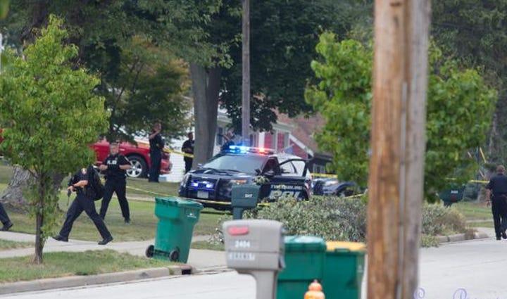 Police on Sherwin Drive.