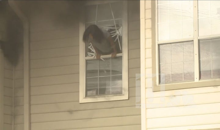 Fire forced two women to jump out of a Sandy Springs
