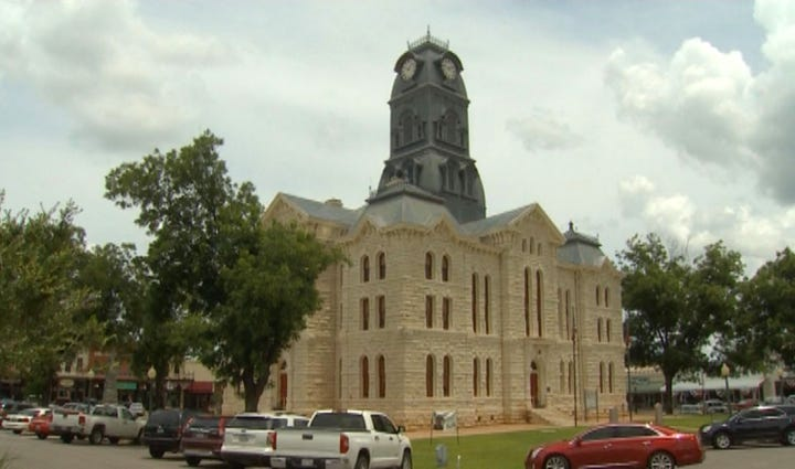 The Hood County Courthouse in Granbury.