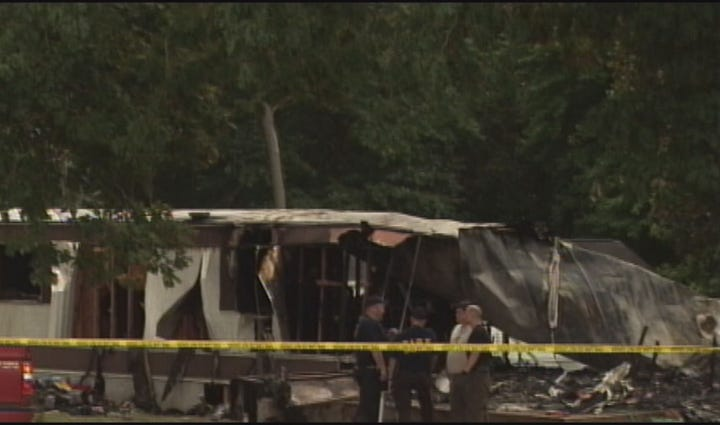 The mobile home fire in Asheboro in 2013.