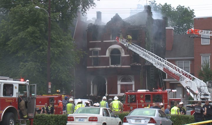 Old Louisville Fire from Thursday.