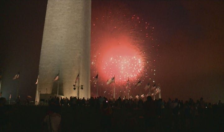 The scene from the National Mall fireworks