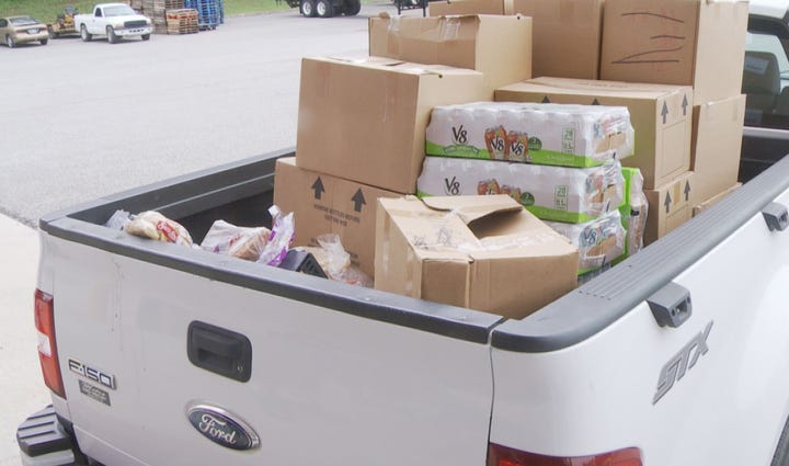 Local agencies were finally able to load up on food