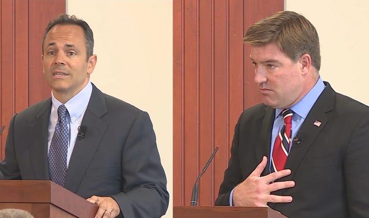 Matt Bevin and Jack Conway at the Kentucky Farm Bureau