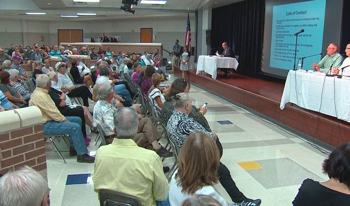 Farmersville residents packed a meeting at the high