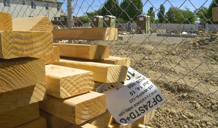 New housing construction is underway in Natomas on