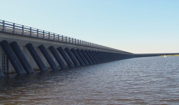 The Lake Borgne surge barrier is the second-largest
