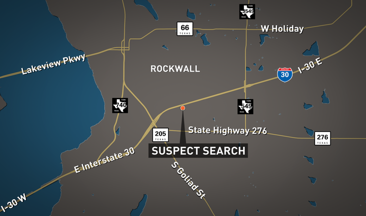 Rockwall suspect search