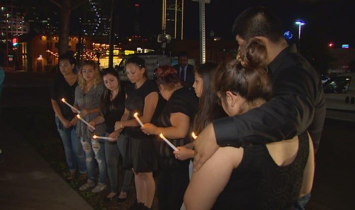Vigil for Dr. Kendra Hatcher, murdered in her Uptown