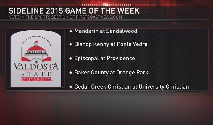 Week 8 game of the week choices