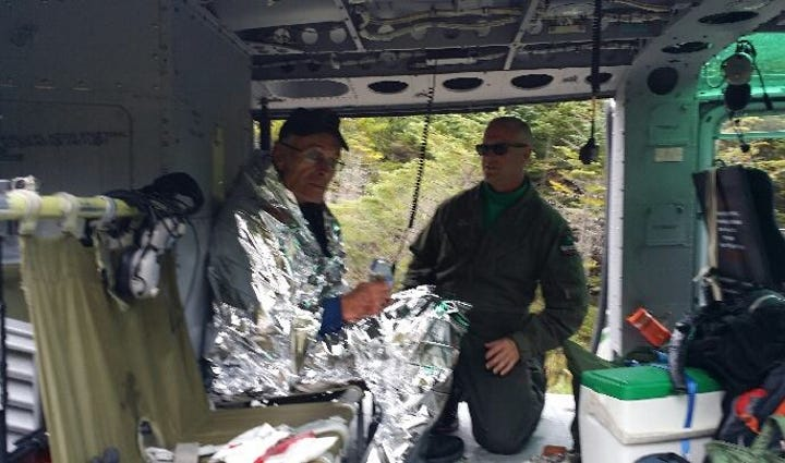 John Lyon was located safely at Baxter State Park on