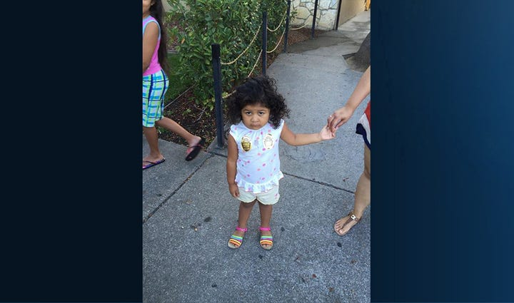 This young girl was found wandering in Lodi Wednesday