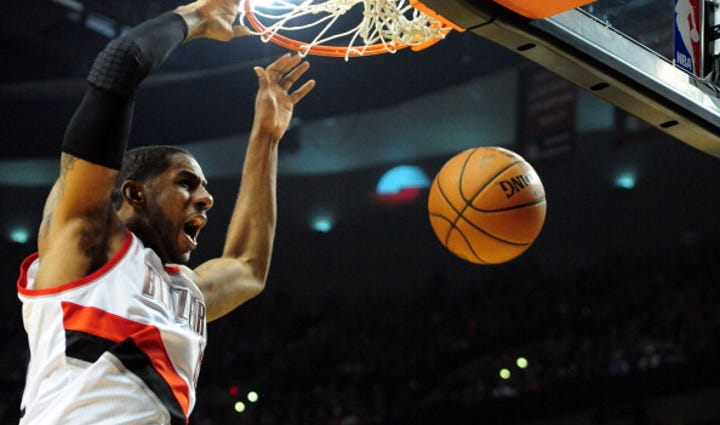 PORTLAND, OR - APRIL  27: LaMarcus Aldridge #12 of