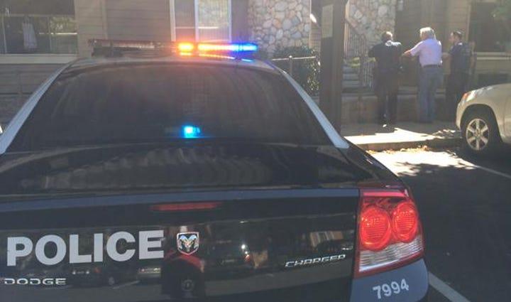 Cops on scene