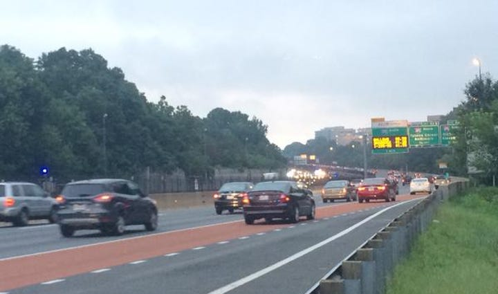 X lane reopens on I-66 eastbound