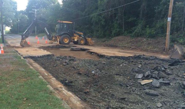 Site on major water line break in Lexington
