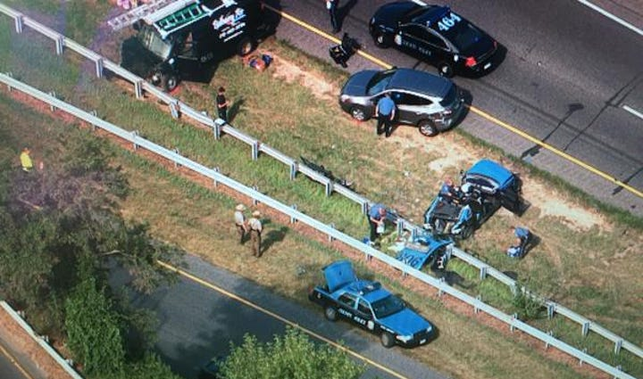 Officer hurt in serious accident on I-97 near Rt. 32