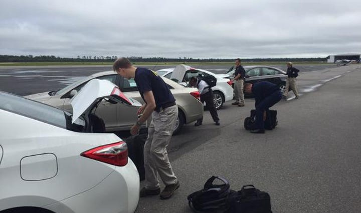 NTSB officials arriving in Jacksonville Tuesday morning.