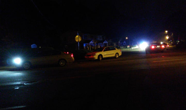 Viewer picture of the scene of a shooting in Hampton