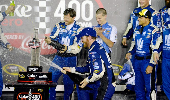 during the NASCAR Sprint Cup Series Coke Zero 400 Powered