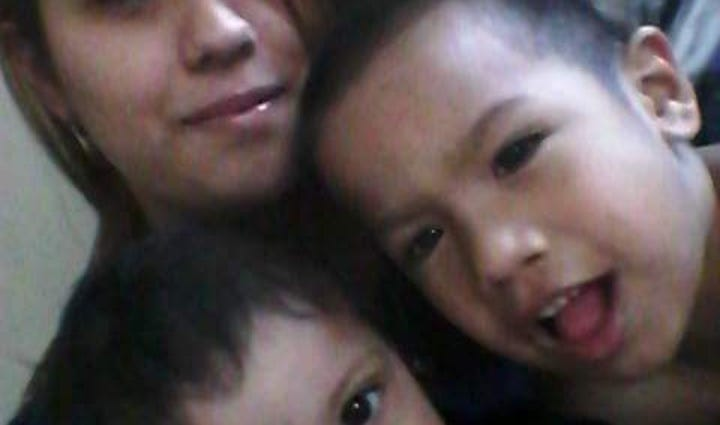Jessica Moreno with her sons, Marcelo and Kevin