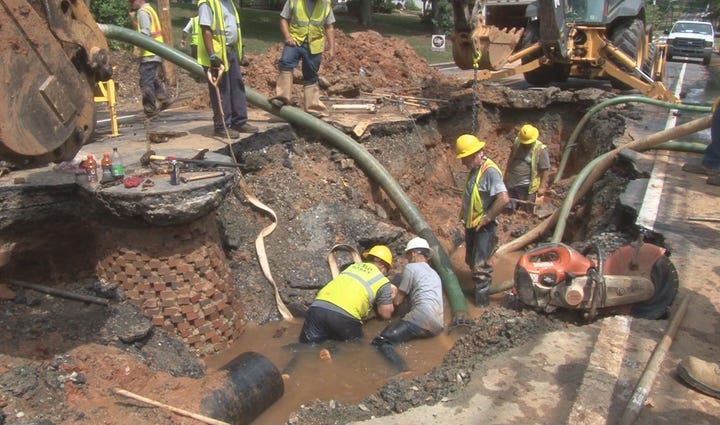 Lexington water main break