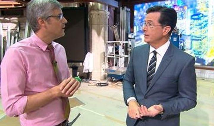 Stephen Colbert on CBS Sunday Morning.