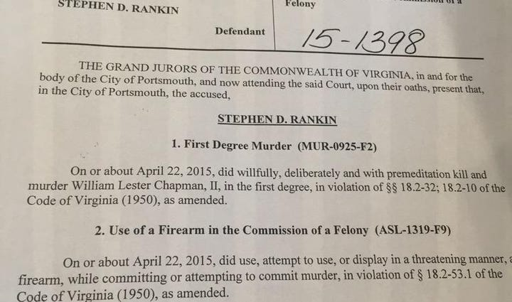 Charges against Officer Rankin