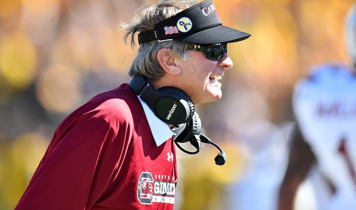 South Carolina Gamecocks head coach Steve Spurrier