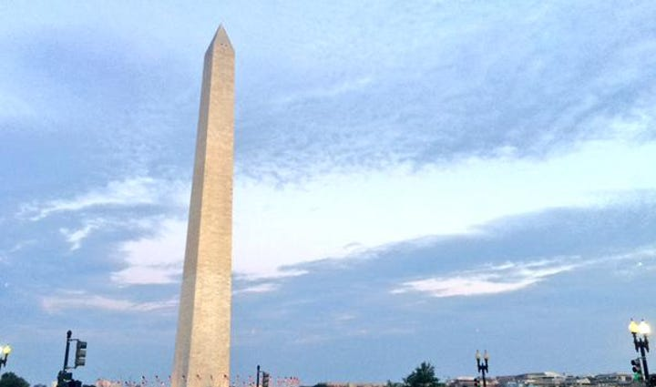 A view of the Washington Monument and the National